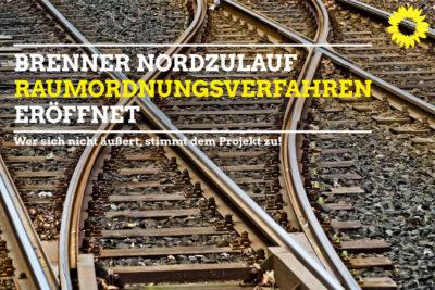 Brenner Nordzulauf Raumordnungsverfahren eröffnet